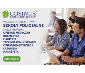 Wiosenny nabór w bezpłatnej szkole Policealnej COSINUS